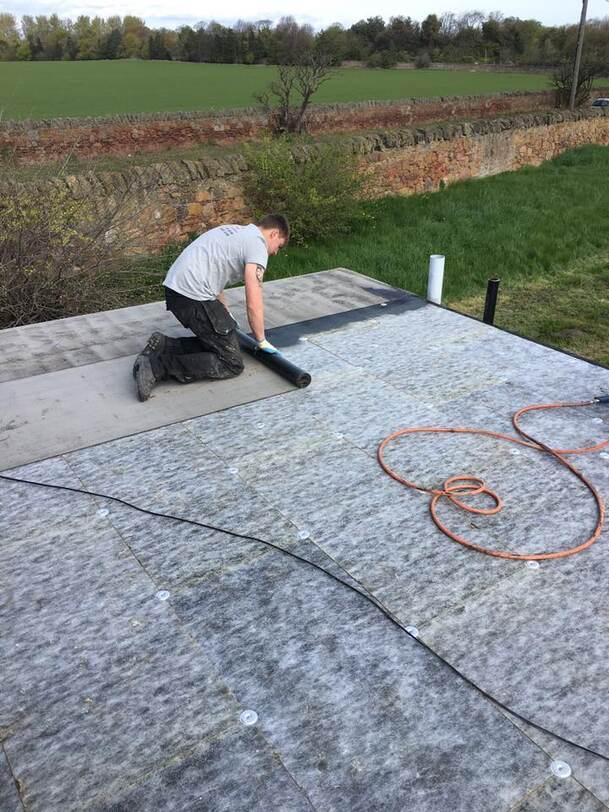 flat roof in progress