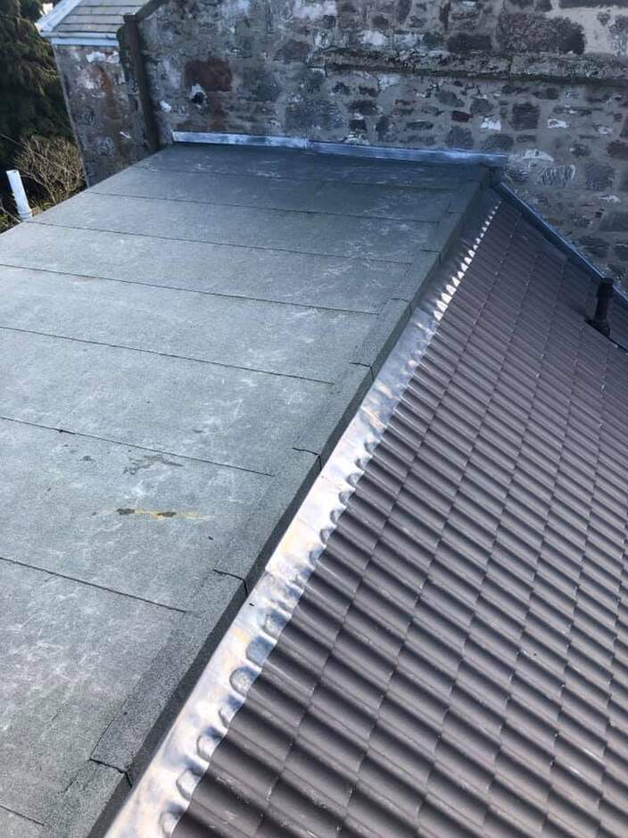 felt and tiled roof