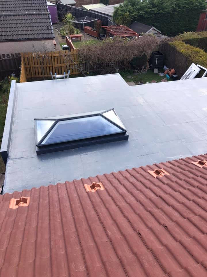 Tiled and flat roofing