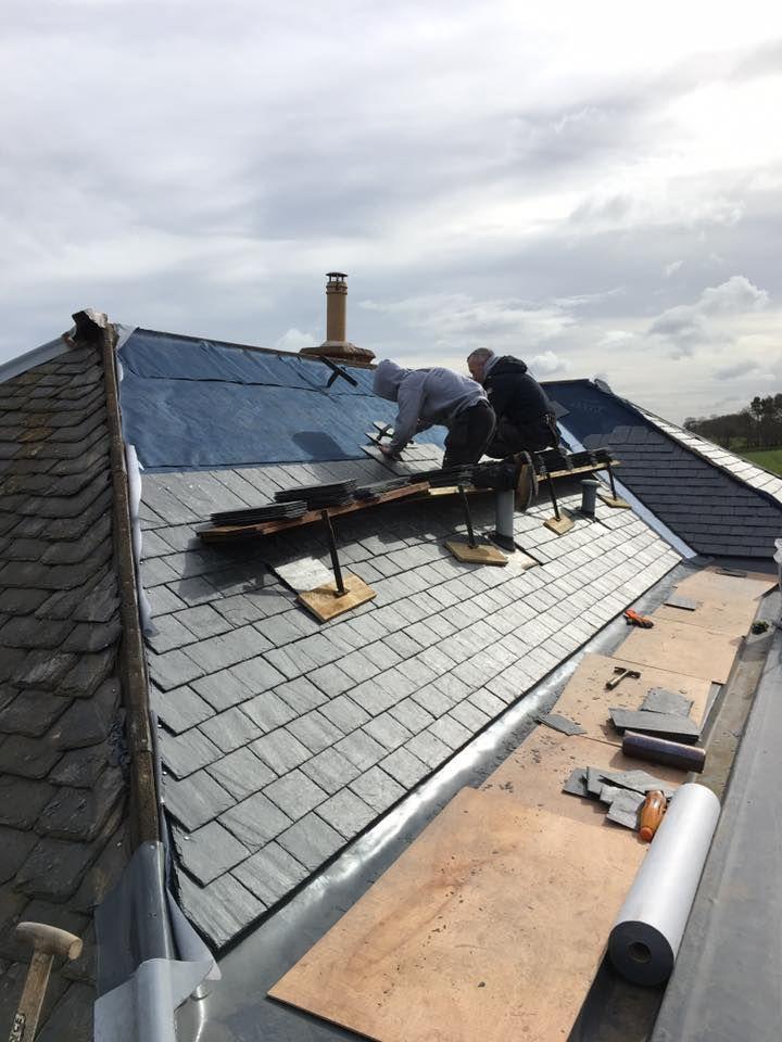 roof repair in progress
