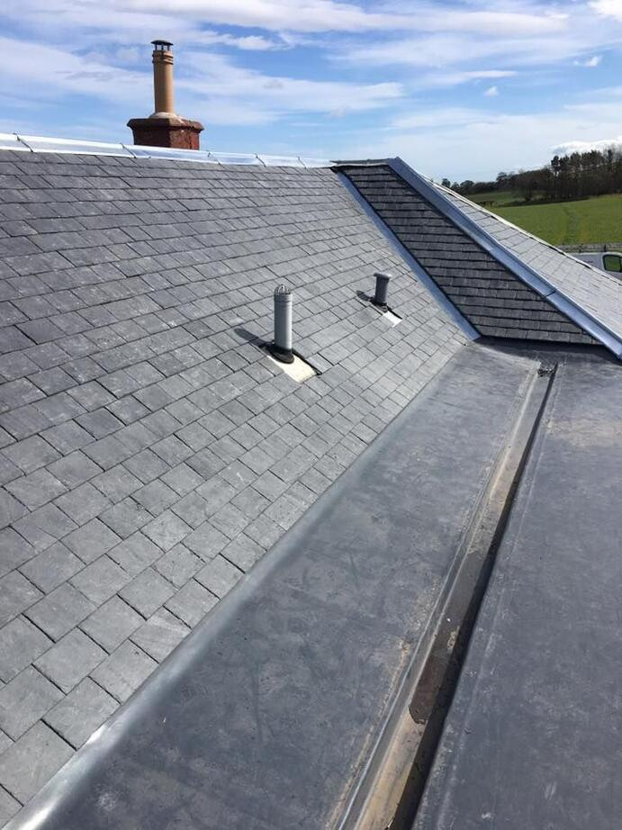 roof repair finished