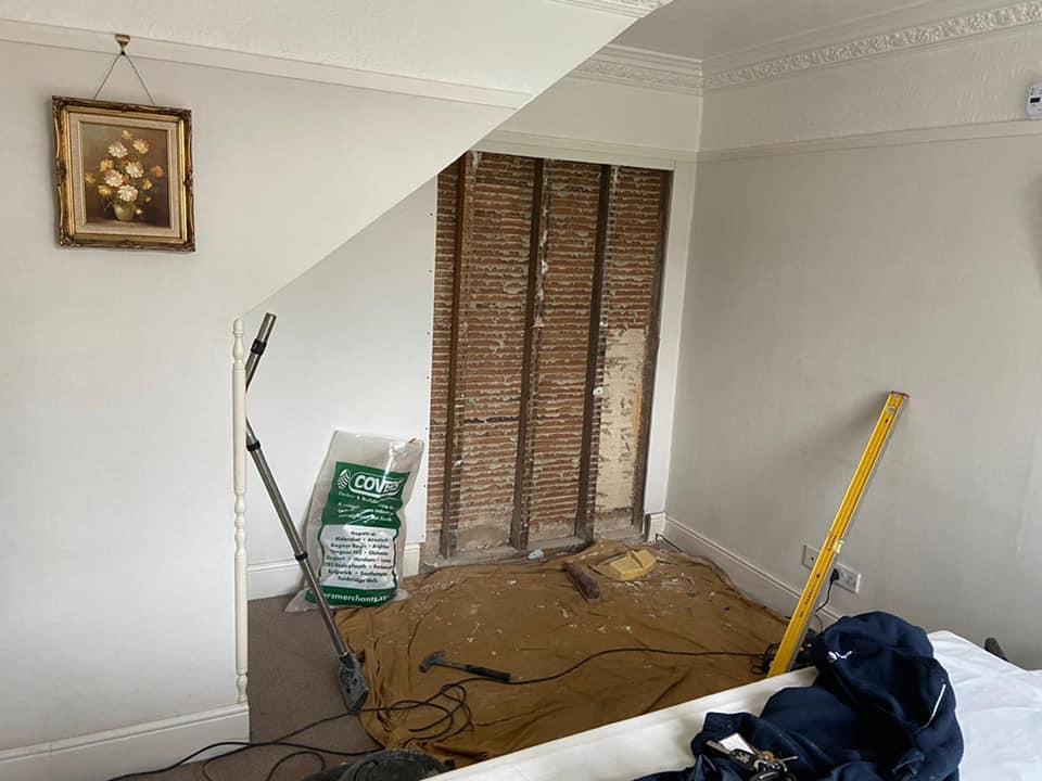 wall knock through